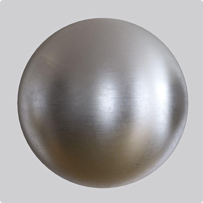 Material de metal cepillado en Vray