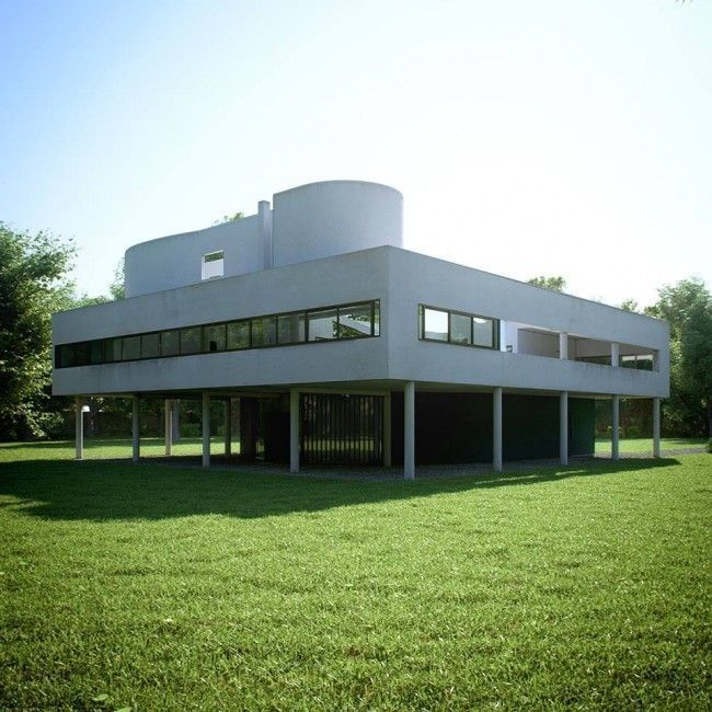 Villa Savoye escena 3D Completa MAX + Vray por Rafael Reis