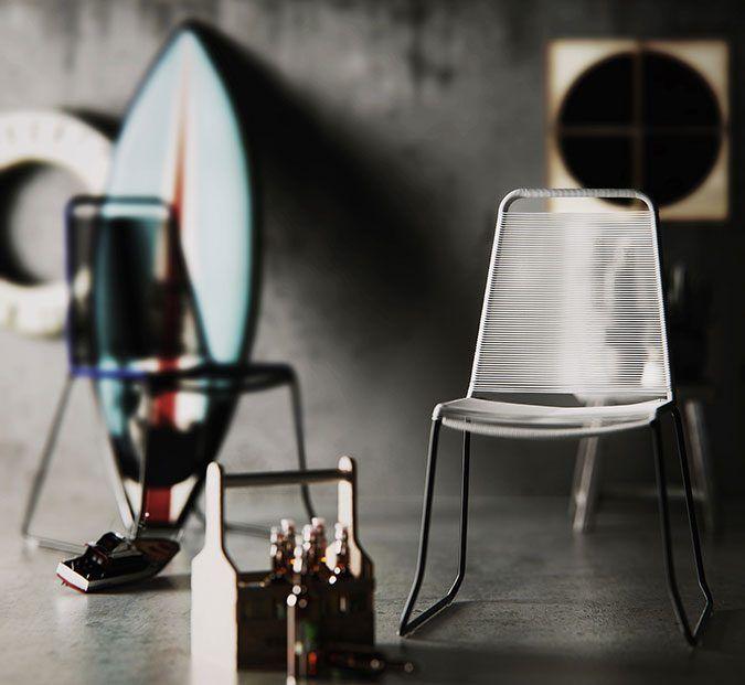 Modelo 3D Barclay dining chair por Mykhaylo Faydula