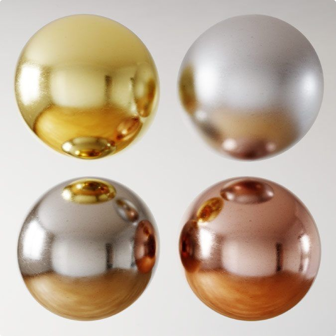 Materiales Metálicos PBR en Corona Renderer