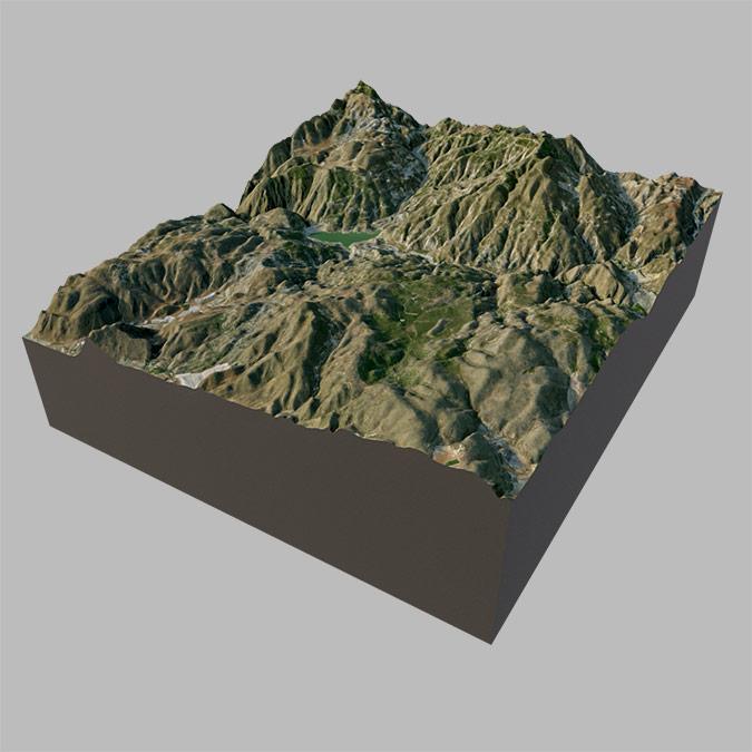 Terrenos 3D con datos SEM y fotos de satélite