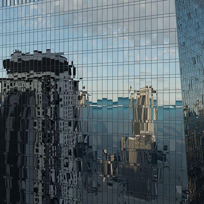 Reflexiones aleatorias en vidrios con VRay 5